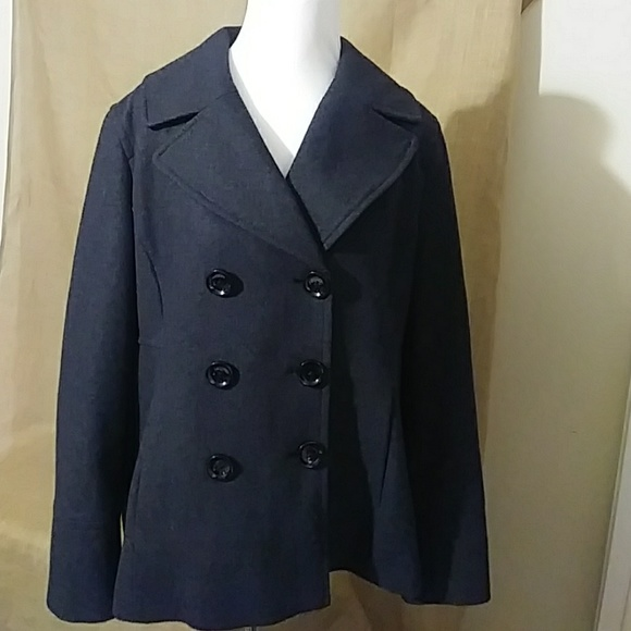 Michael NEW Dark Kors Grey Women's Pea Coat XL 354ARjcLq